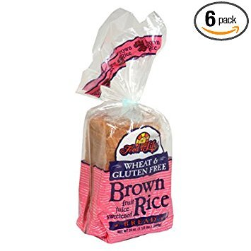 - Food For Life Bread Wheat Free Gluten Free Rice Brown, 24 Ounce (Pack of 6)