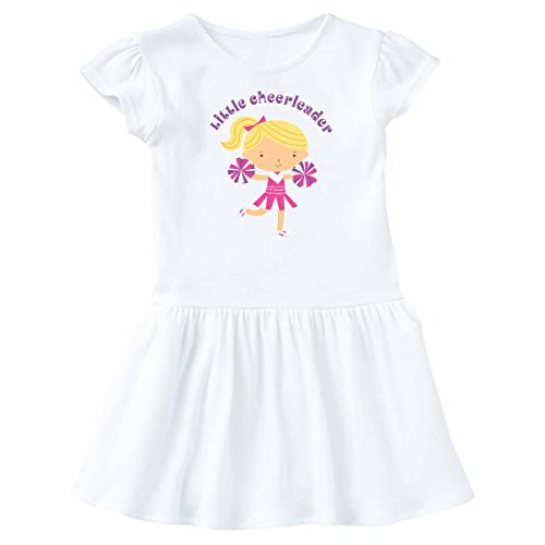 inktastic - Little Cheerleader Infant Dress 18 Months White c68a