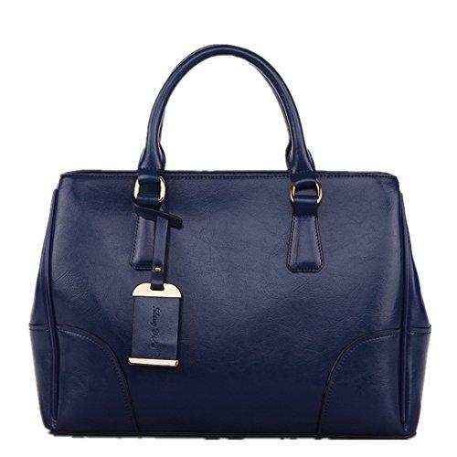 Fujia Genuine Leather 6 Colors Women Handbag Blue