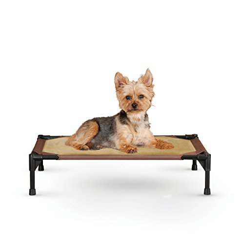 K&H Pet Products Comfy Pet Cot Elevated Pet Bed Small Chocolate/Tan 17