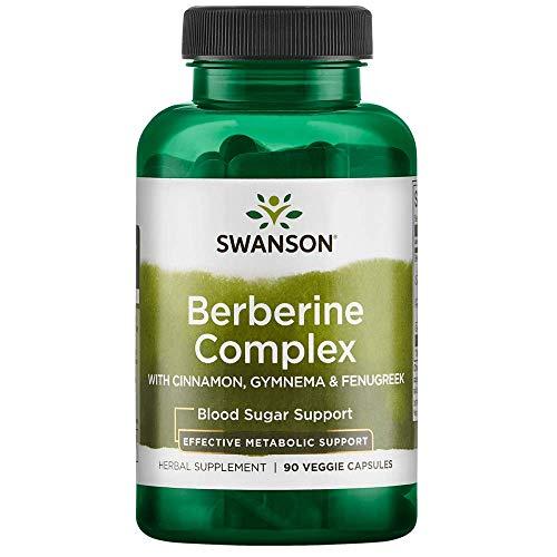 Swanson Berberine Complex w/Cinnamon Gymnema & Fenugreek 90 Veg Capsules