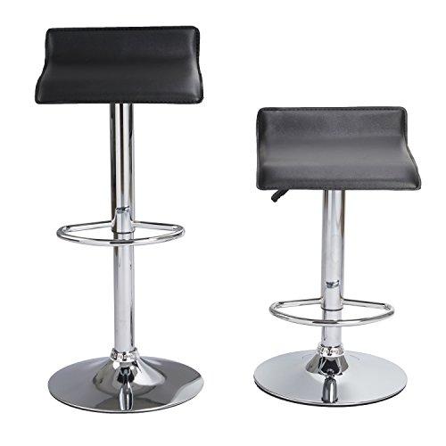Incredible Set Of 6 Barstool Coavas Black Modern Adjustable Swivel Pu Short Links Chair Design For Home Short Linksinfo