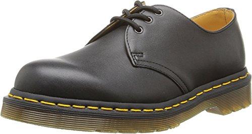 Dr. Martens 1461 3-Eye Gibson Lace-Up,Black Nappa,UK 15 (US Men's 16) M (Yellow Nappa Footwear)