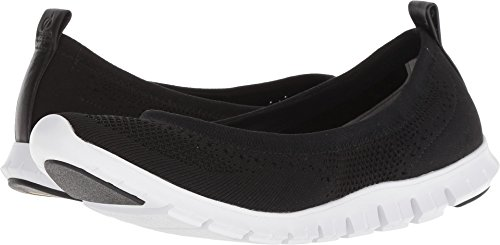 Haan Women's Ballet Cole optic White Black Knit Zerogrand Flat Stitchlite dUnAaB