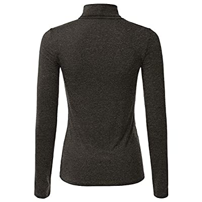 Doublju Soft Knit Turtleneck T-Shirt Top for Women with Plus Size at Women's Clothing store