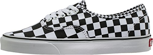 Vans Authentic Sneakers, Unisex Casual Low-Top in Classic and Stylish Designs, Comfortable and Durable in Original Rubber Waffle Outsole (Mix Checker) Black/True White