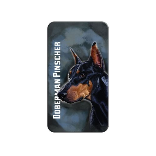 Pinscher Tie (Doberman Pinscher Black On Blue - Dog Pet - Metal Lapel Hat Pin Tie Tack Pinback)