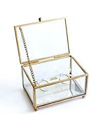 Personalized Glass Ring Bearer Box, Custom Glass Wedding Ring Box , Personalized Ring Bearer Box, Wedding Glsss Box