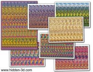 Seven Hidden 3D Stereogram Illusion Post - Make 3d Poster Shopping Results