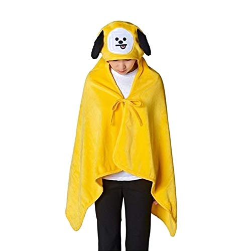 South Korean Costumes For Boys - Teblacker BTS Hooded Blanket | Unisex