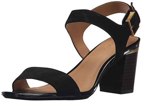 Calvin Klein Cimi Bloque de la sandalia de tacón Black nubuck