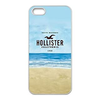 JiHuaiGu(TM) iPhone 5 5s Funda Blanco Hollister tema personalizado iPhone 5 5s Case - OL2404