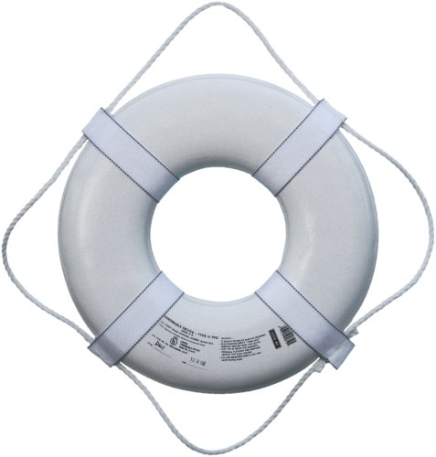 "Jim-Buoy G-19 U.S.C.G. Approved G-Series Life Ring - 19"", White"