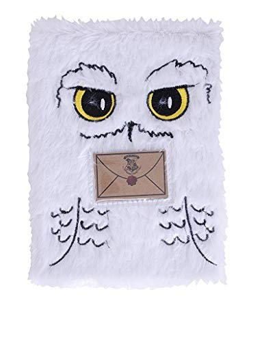 Hedwig A5 Plush Notebook - Hedwig Plush Cover- White Owl - Harry Potter by HARRY POTTER