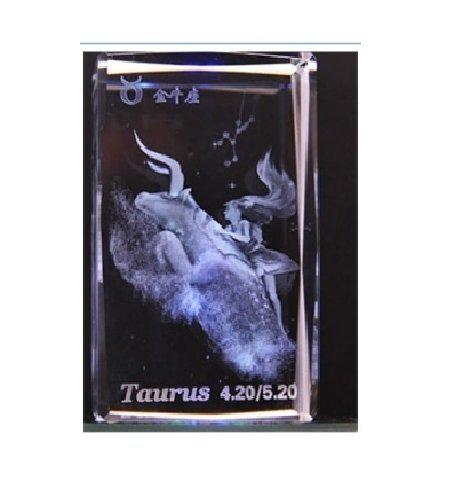 Firstergo 12 Constellation 3d Laser Etching Crystal (Taurus)