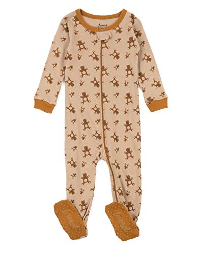 Baby Boys Girls Footed Pajamas Sleeper 100% Cotton (Teddy Bear, Size 12-18 Months) ()