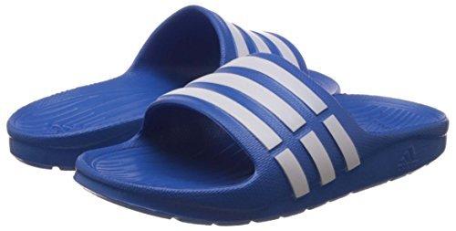 adidas Duramo Slide Sandales de Bain Mixte Adulte - - True Blue/White/True Blue,