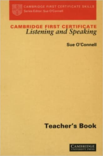Book Cambridge First Certificate Listening and Speaking Teacher's book (Cambridge First Certificate Skills)