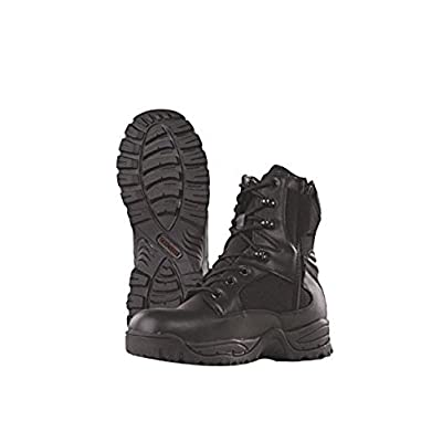 "Tru-Spec 4059 Tac Assault 9"" Side Zip Tactical Boots, Black: Clothing"