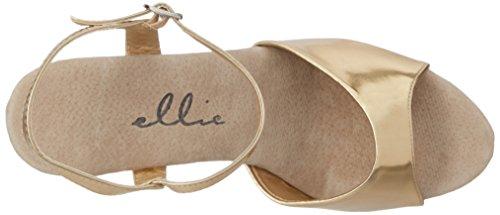 Ellie Shoes Women's 609-CHROME Platform Sandal Gold viHQ5OX4H9