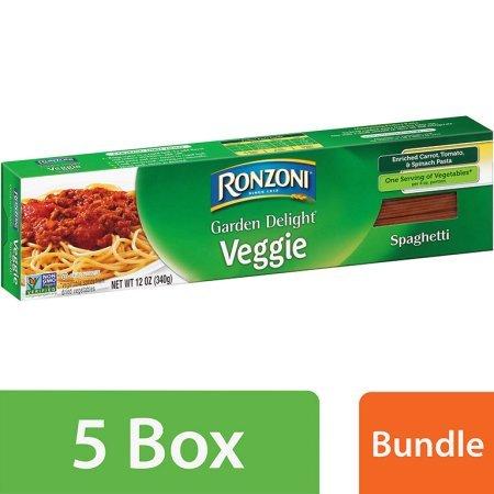 Great Value Ronzoni Garden Delight Veggie Spaghetti Enriched Pasta 12 oz (5 Packs)