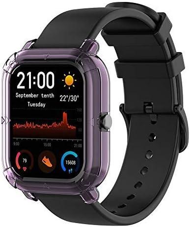 Starnearby Coque Compatible pour Amazfit GTS Coque de Protection Transparente Demi-Coque pour Smartwatch,