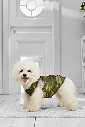[Small Dog Camo Tank Top Vest For Bichon Frise Dachshund Miniature Poodle Havanese (Small Size, green, black, olive, khaki)] (Mini Dachshund Halloween Costumes)