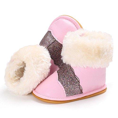 Kleinkind Neugeborene weichen Gummi für Schuhe Infant Mädchen Aufwärmen Igemy Baby Rosa Stiefel Snow Bqwz8