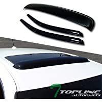 Topline Autopart Sun Rain Vent Window Visor+Sunroof Moon...