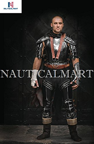 NAUTICALMART Armor Berserk Replica - Blackened Steel Full Set Cuirass/Shoulders/bracer/Leg Greaves - Steel Armor by NAUTICALMART