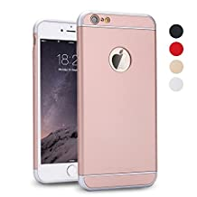 iPhone 5S Case, iPhone SE Case, iPhone 5 Case, SAUS 3 in 1 Ultra Thin and Slim Design Coated Premium Non Slip Surface with Excellent Grip Case Fit for Apple iPhone 5 / 5S / SE (Rose Gold)