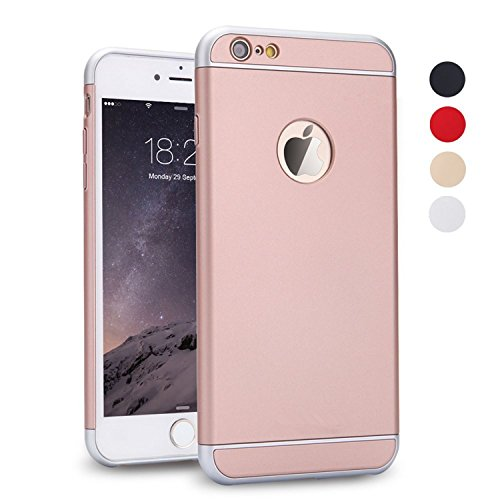 (iPhone 5S Case, iPhone SE Case, iPhone 5 Case, SAUS 3 in 1 Ultra Thin and Slim Design Coated Premium Non Slip Surface with Excellent Grip Case Fit for Apple iPhone 5 / 5S / SE (Rose Gold))