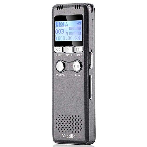 Digital Voice Recorder by Vandlion, 8GB 1600mAh Sound Audio