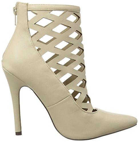 Boohoo Damen Lattice Heeled Shoe Sandalen Beige (Nude Pu)