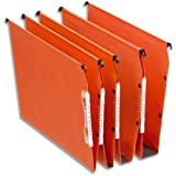 Esselte Lot de 25 Dossiers Suspendus Armoires Dual Fond 15 mm - Kraft Orange