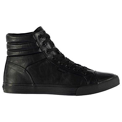 SoulCal Hombre Asti Hi Tops Zapatillas Cordones Zapatos Puntera Suela Robusta