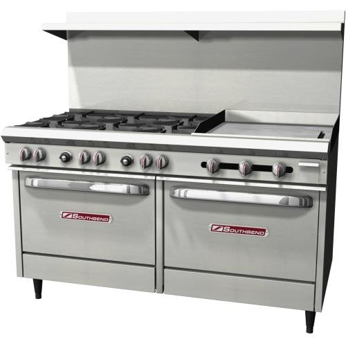 (Southbend S60DD-2G S-Series Natural Gas 6-Burner Range with Griddle)