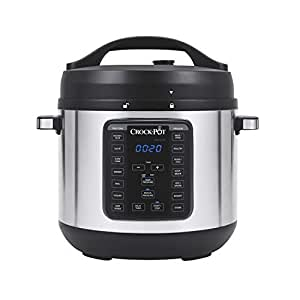 Crock-Pot 8-Quart Multi-Use XL Express Crock Programmable Slow Cooker and Pressure Cooker with Manual Pressure, Boil & Simmer, Stainless Steel