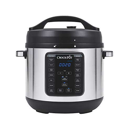 Crock-Pot 8-Quart Multi-Use XL Express Crock Programmable Slow Cooker and Pressure Cooker with Manual Pressure, Boil & Simmer, Stainless Steel (Electric Express)