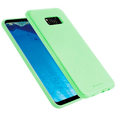 GOOSPERY Galaxy S8 Plus Case Thin Fit for Women Girls [Style Lux] Slim Rubber Case [Non Slip Grip] TPU Silicone Jelly Bumper Cover for Samsung Galaxy S8 Plus (Mint Green) S8P-STYL-MNT (Galaxy S8 Best Price)