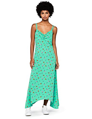 green Donna A Fiori Dress Find Maxi Verde wI0Y77