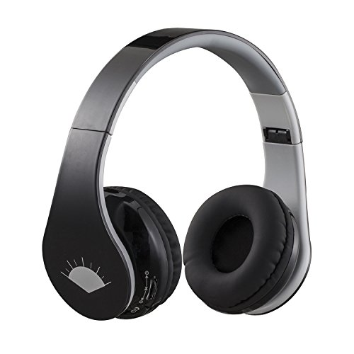 well-wreapped SUNG-LL Music Stereo Wireless Bluetooth Over Ear Headphones with Mic(Black)