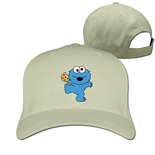 Children's Television Show Nom Nom Nom Cookie Monster Baseball Snapback Cap Natural (Cookie Monster Headband)