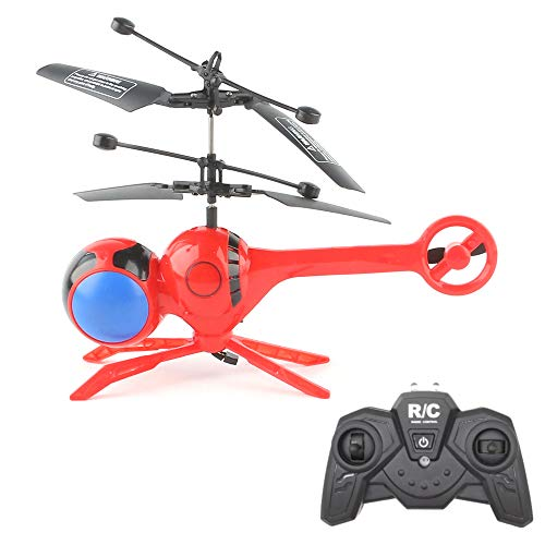 Goolsky Luminous Dragonfly RC Helicopter 3 Channels Mini Remote Control Dragonflies Aerocraft Flash Colorful LED Disco Light-Up Flying ()