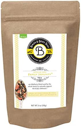 Birds & Bees Teas - Elderberry Tea - Family Immunity Tea is an Immune System Booster with Organic Herbs! Makes A Delicious Sambucus Elderberry Syrup - 40 Servings, 9.0 oz