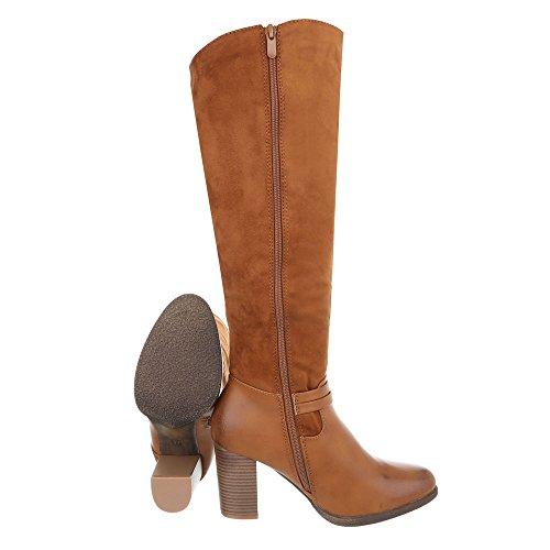 Stiefel Pump Heels Camel Klassische High Ital Design Damenschuhe Reißverschluss Stiefel Stiefel Klassische gS6qXxFw