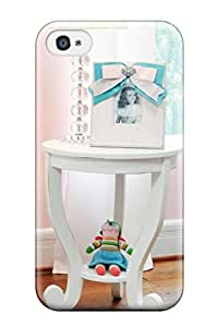 New White Side Table And Lamp In Girl8217s Pink Nursery Tpu Case Cover, Anti-scratch Jason R. Kraus Phone Case For Iphone 4/4s