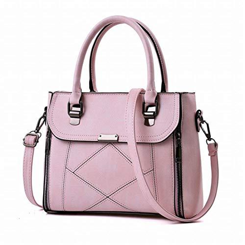 Dimensione borsa della Colore borsa Borsa borsa delle donne lampo messaggero Rosa tracolla del Moontang a chiaro Grigio della della della chiusura xwfHaxIqP