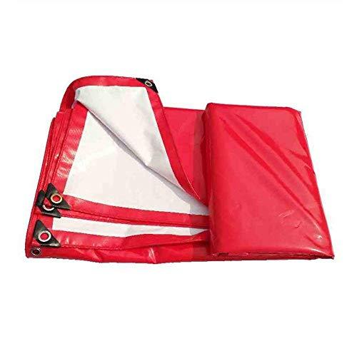 Betty Doppelseitige Heavy Duty Plane Outdoor Camping100% wasserdicht und UV-geschütztes rotes und weißes Blatt Plane Stiefelzelt (450g   m²) Dicke 0,4 mm (größe   2x3m)