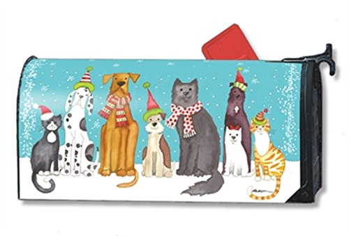 MailWraps Pet Holiday MailWrap Mailbox Cover 01431 Cat Mailbox Covers